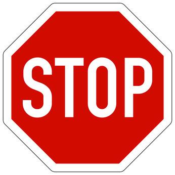 Stop - Meldepflicht